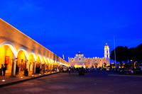 The Zocalo of Cholula in the Evenging