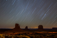 Star Trails over Monument Valley