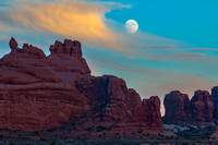 The Super Moon Over Arches National Park