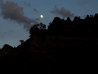 Moon Over Zion National Park