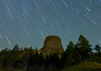 A Close Encounter with Devils Tower Star Trails